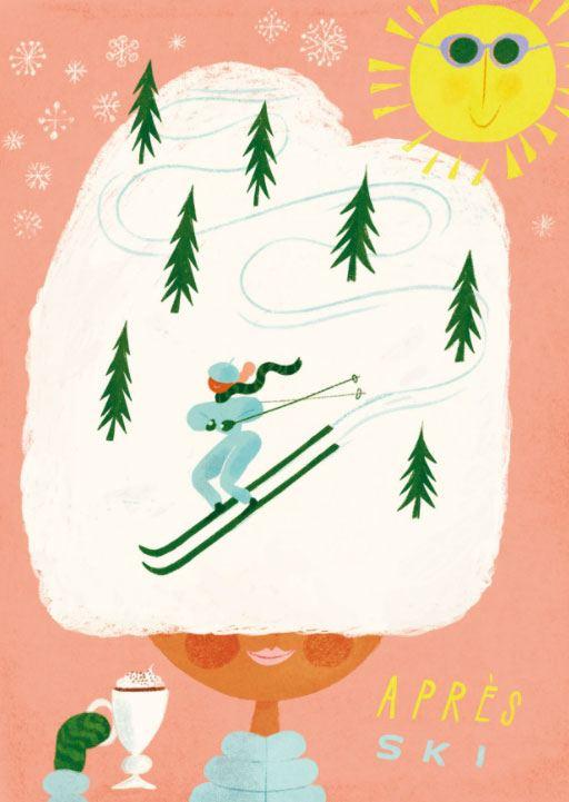 Apres Ski Postkarte