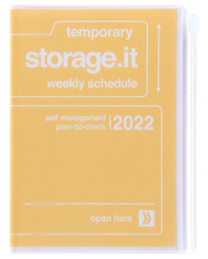 2022 Taschenkalender A6 Storage.it Yellow