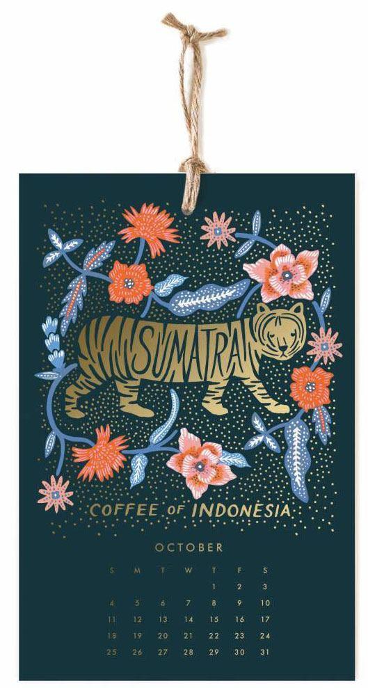 2020 Coffee & Tea Wandkalender