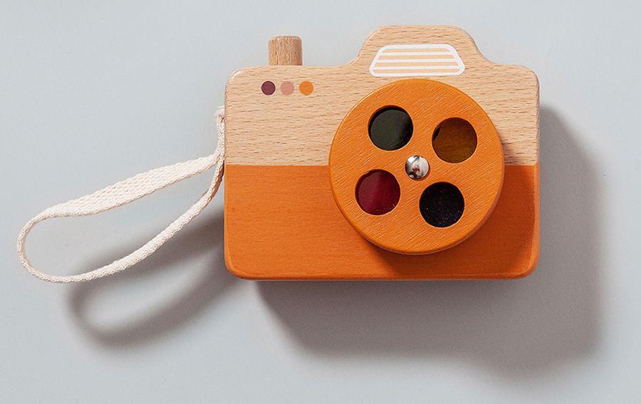 Holz-Kamera Orange