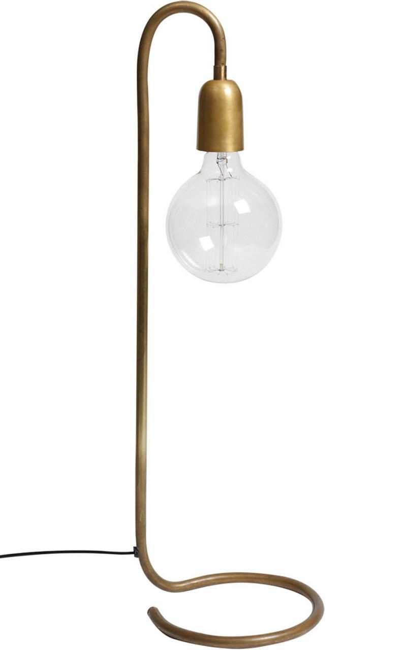 Stehlampe Raw Brass