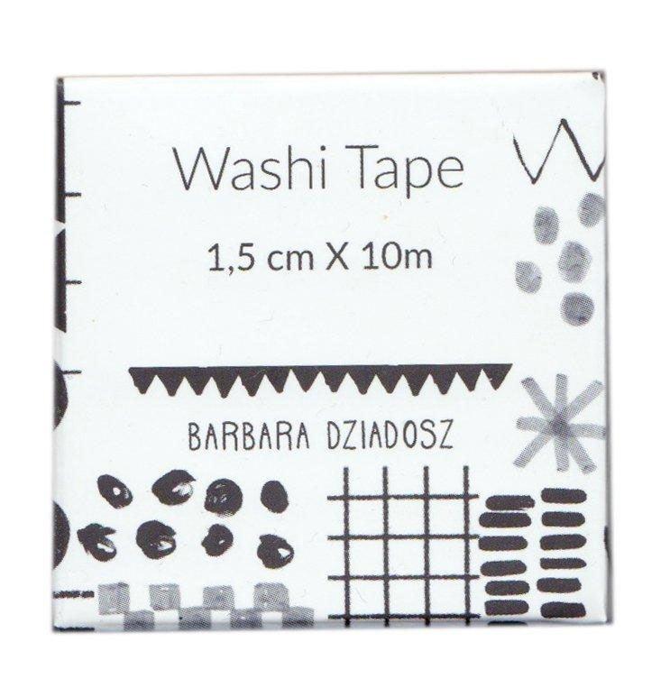 Black and White Pattern Washi Tape