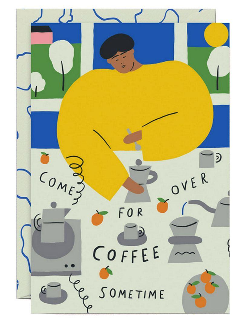 Coffee Invitation Klappkarte