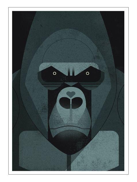 Mountain Gorilla Postkarte