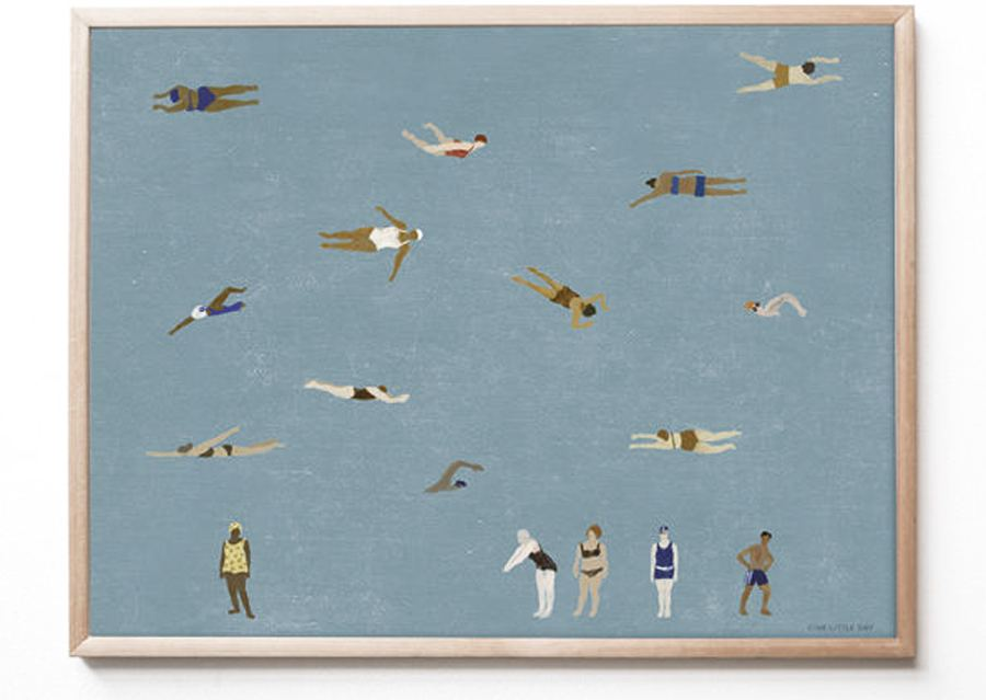 Swimmers Poster (40 x 50 cm)