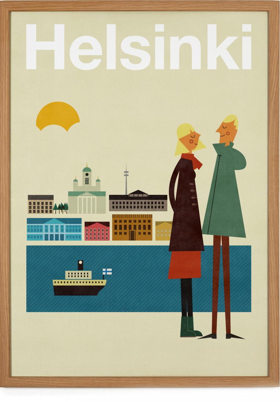 Helsinki Poster (50 x 70 cm)