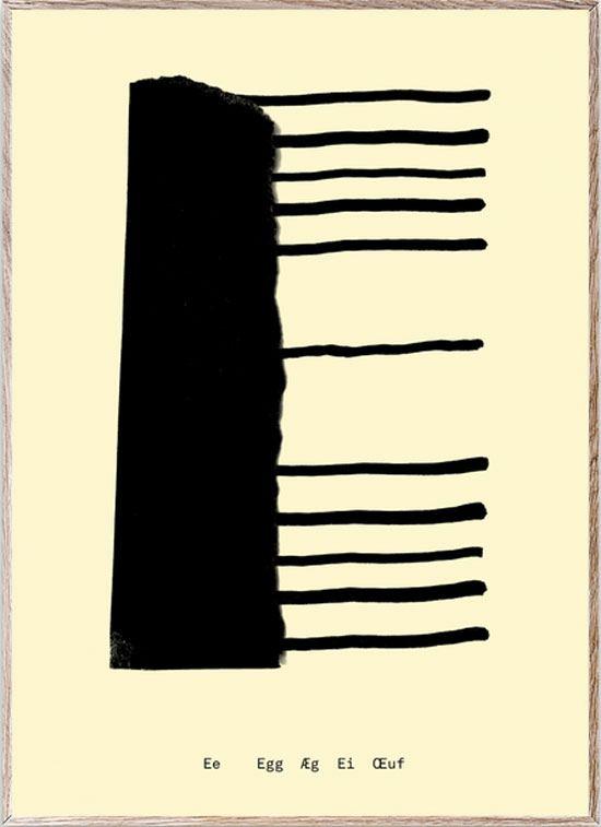 E - Alphabet Spaghetti Letter Print (Din A5)