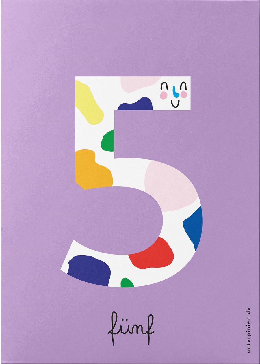 Fünf Postkarte
