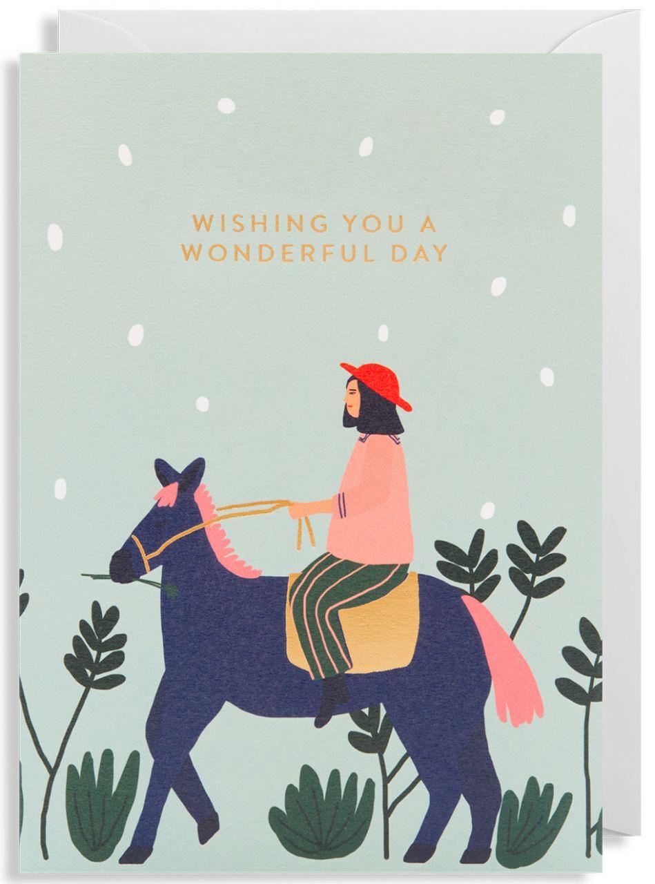 Wishing you a wonderful day Klappkarte
