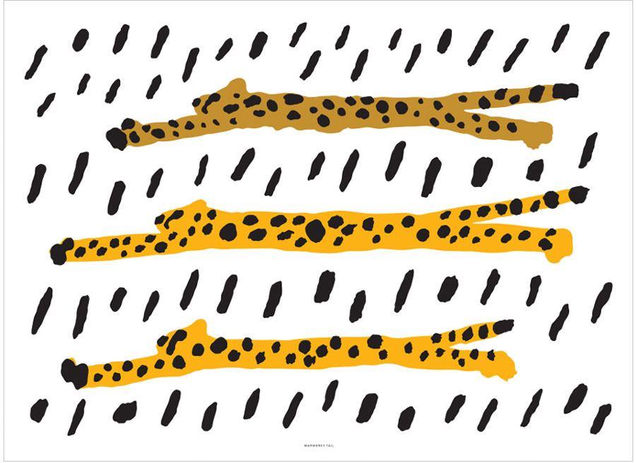 Run Cheetah Run Poster (50x70cm)