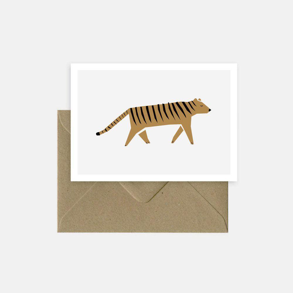 Hello Tiger Klappkarte