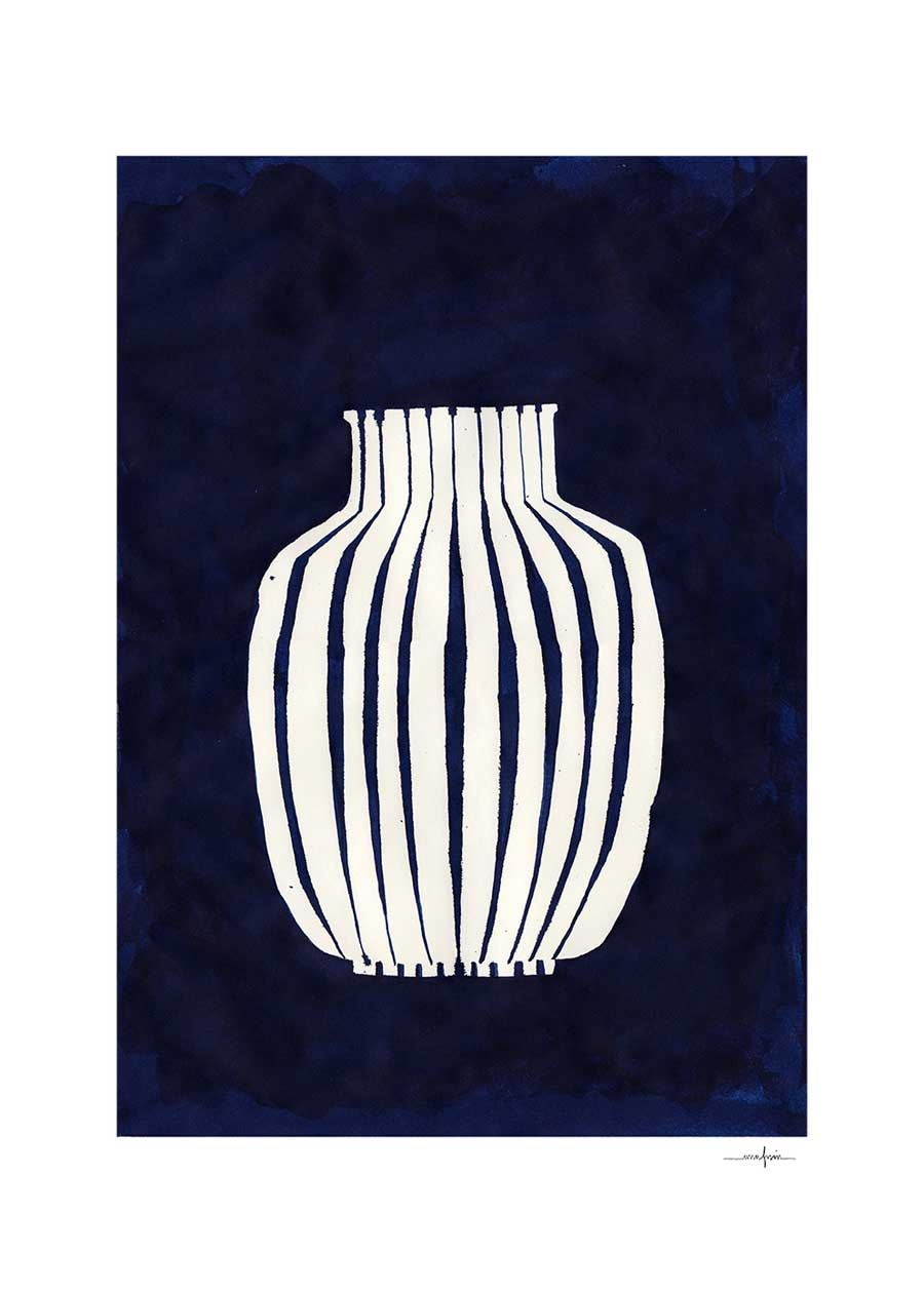 Blue Vase Poster (30 x 40cm)