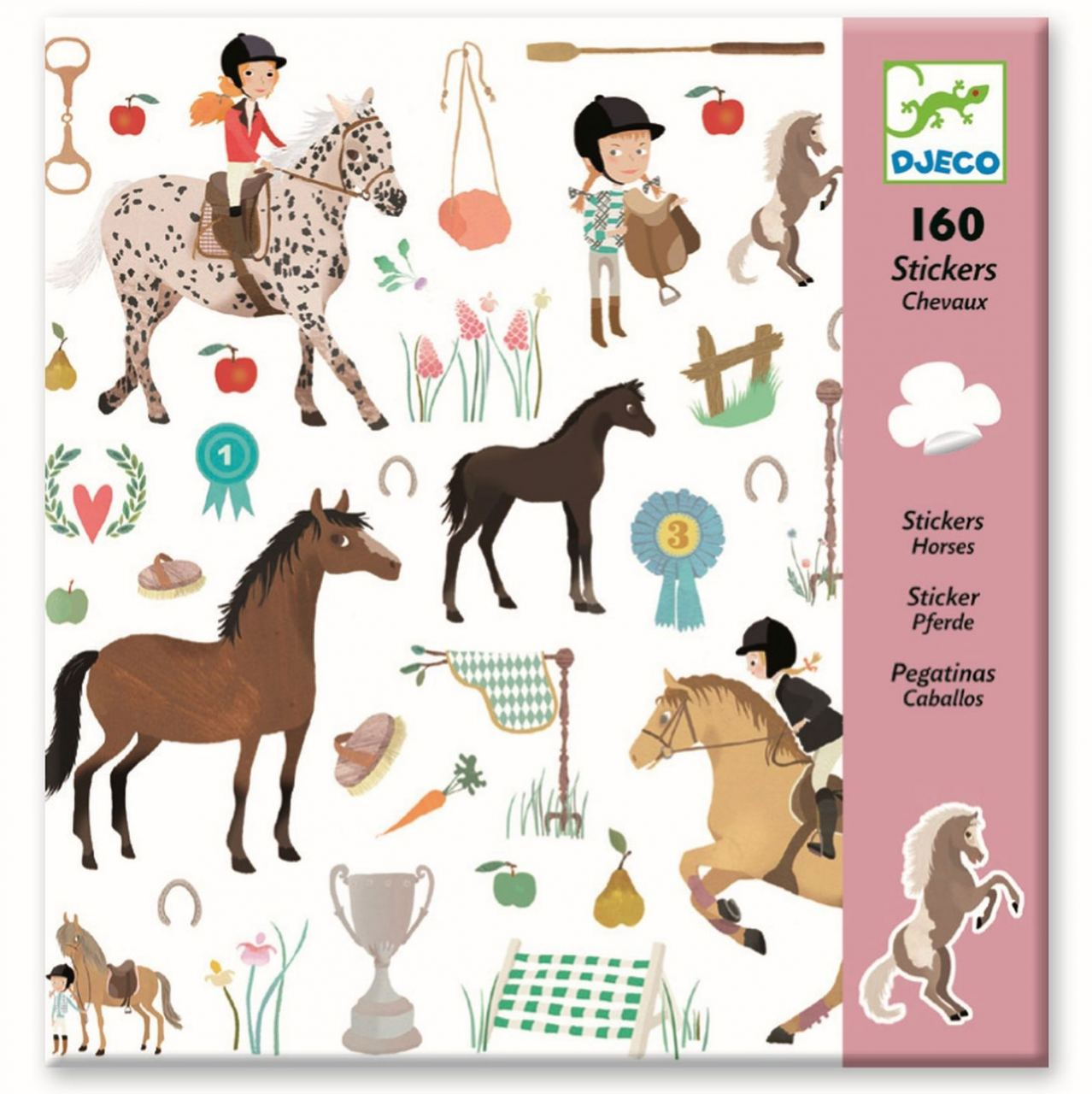 160 Sticker: Pferde