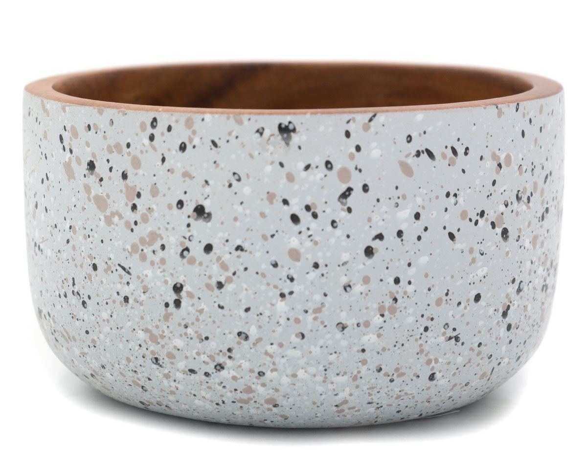 Schale Aca Splattered Grey W/ Black (ø 16,5 cm)