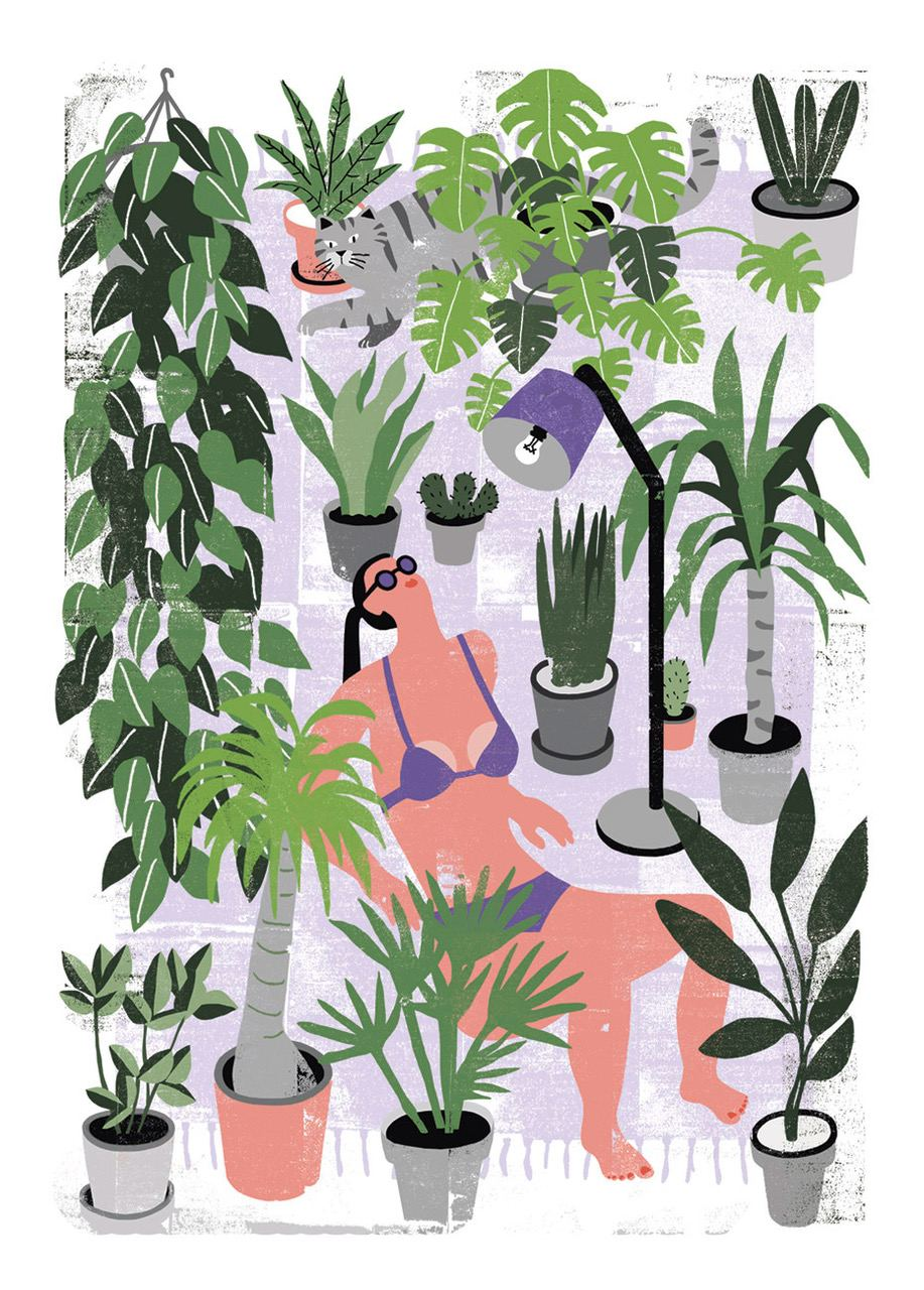 Botanical Summer Poster (50 x 70 cm)