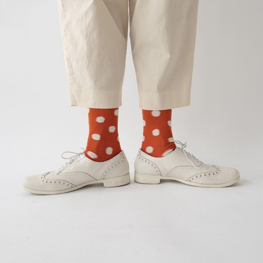 Socks Orange Polka Dot
