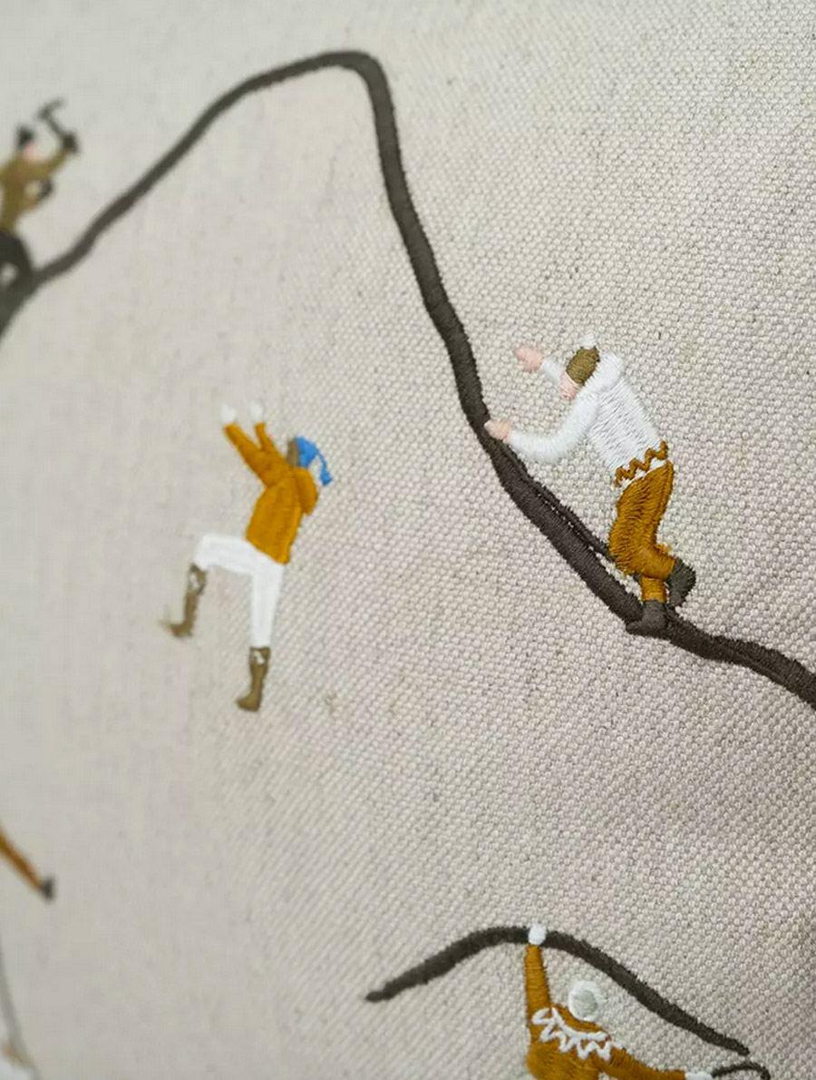 Kissen Mountain Climbers (ca. 50 x 50cm)