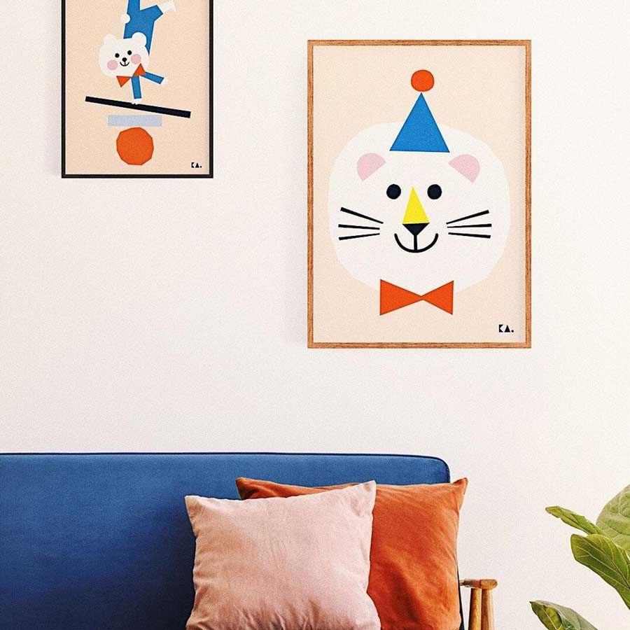 Circus Lion Poster (50x70cm)