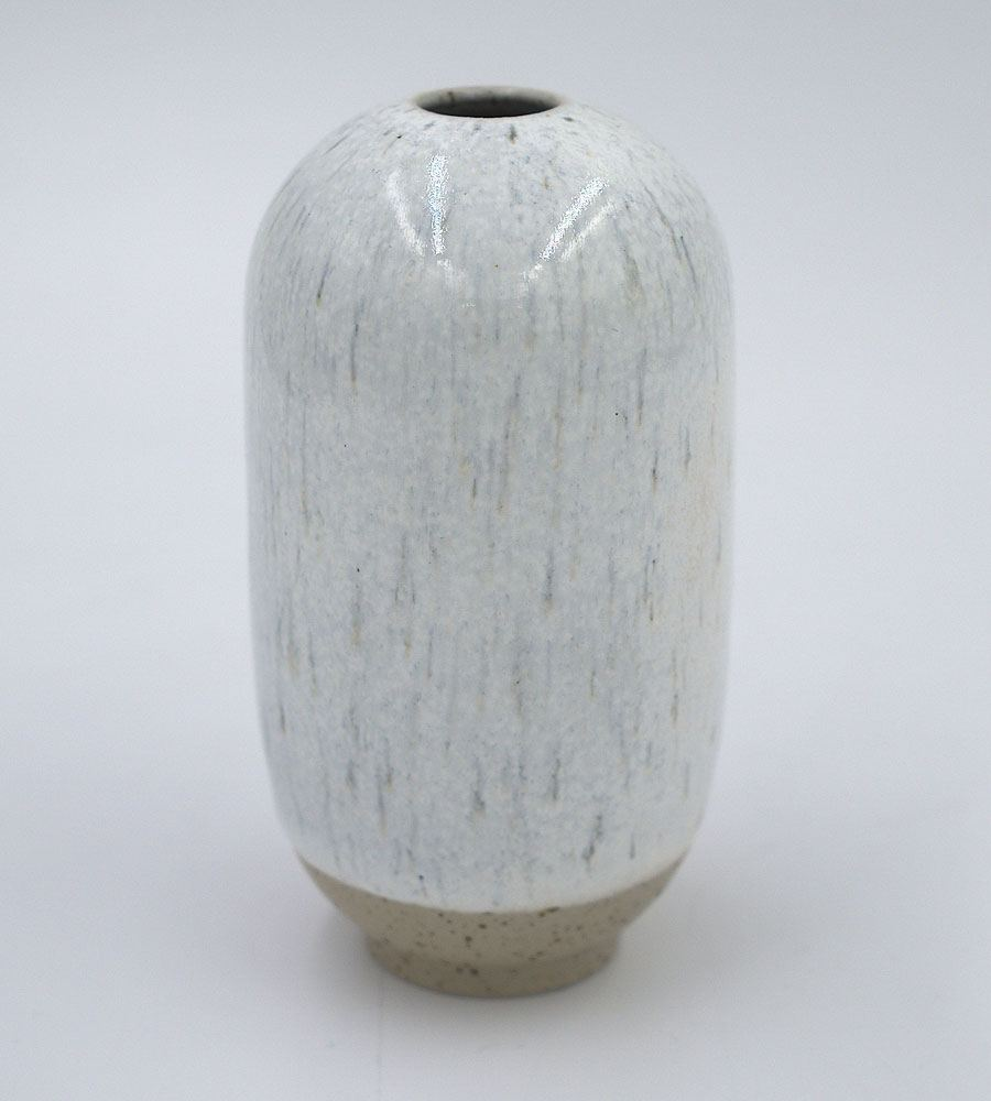 Mini Yuki Vase Stormy White