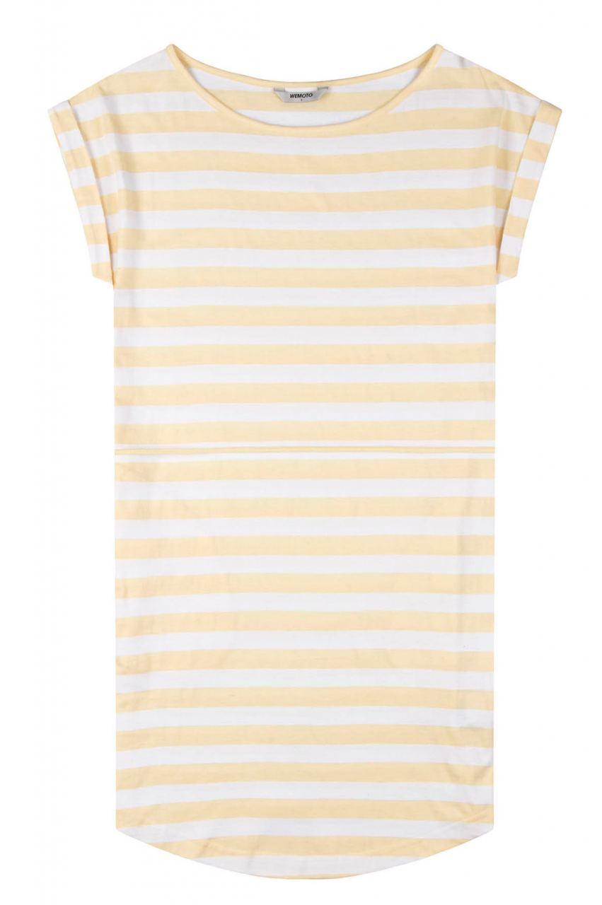 Kano Striped Kleid Tender Yellow White