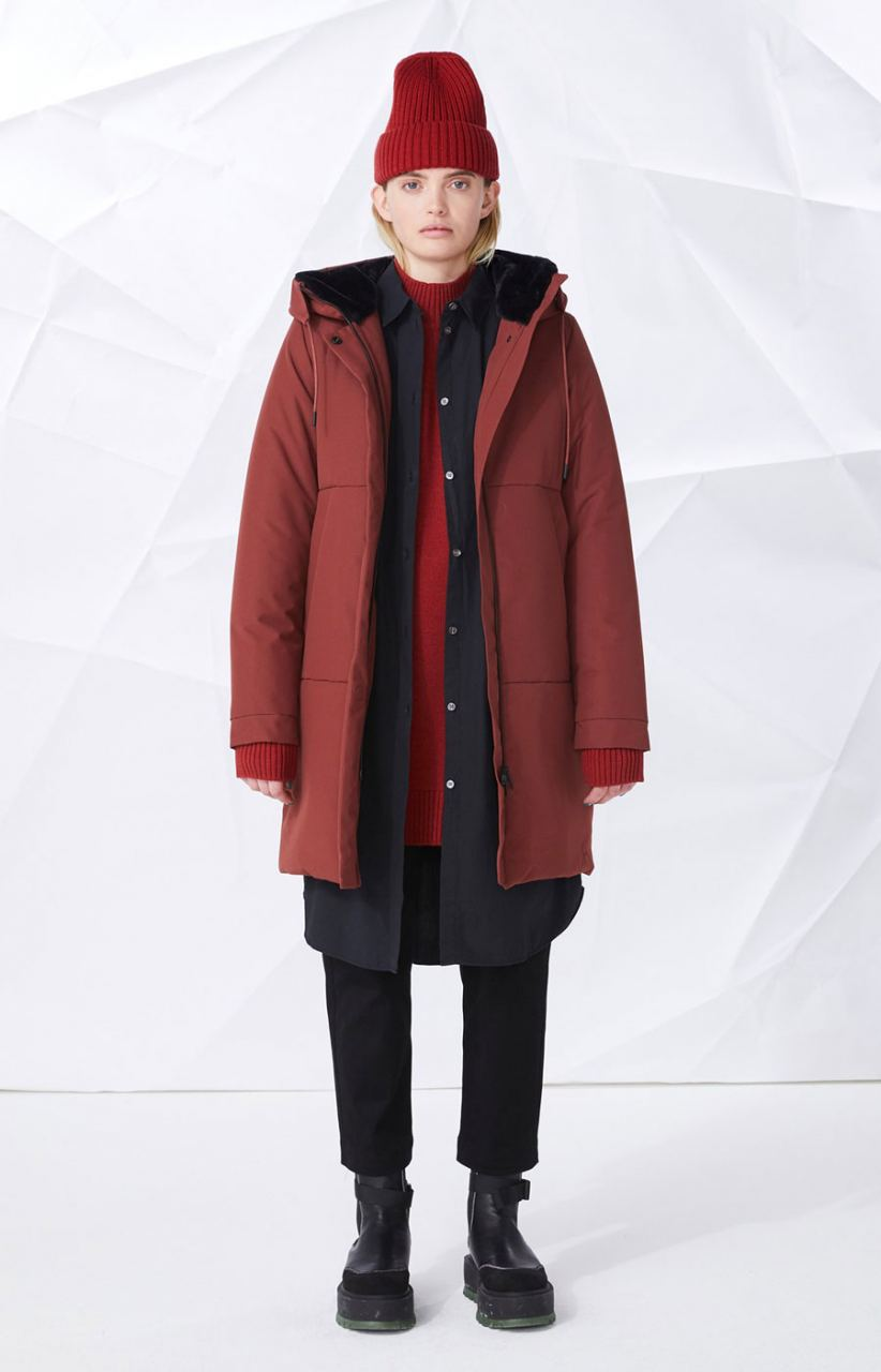 Tiril Jacke Dark Red