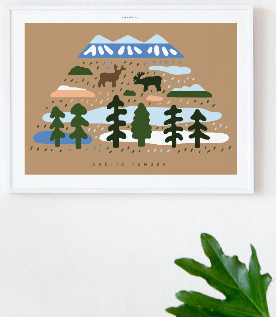 Arctic Tundra Poster (30x40cm)