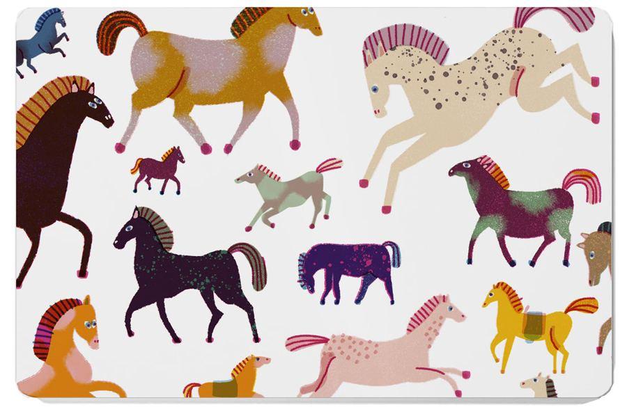 Horses Frühstücksbrett
