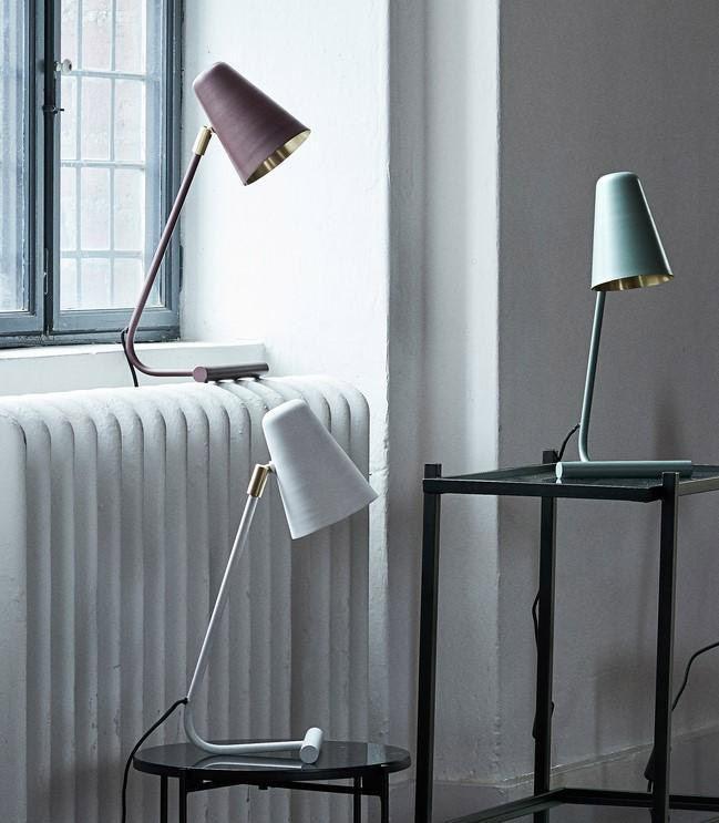 Table Lamp w/shade Matt Dust Green
