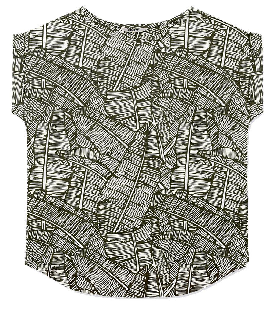 Holly Shirt Printed Black-White