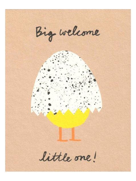 Big Welcome Klappkarte