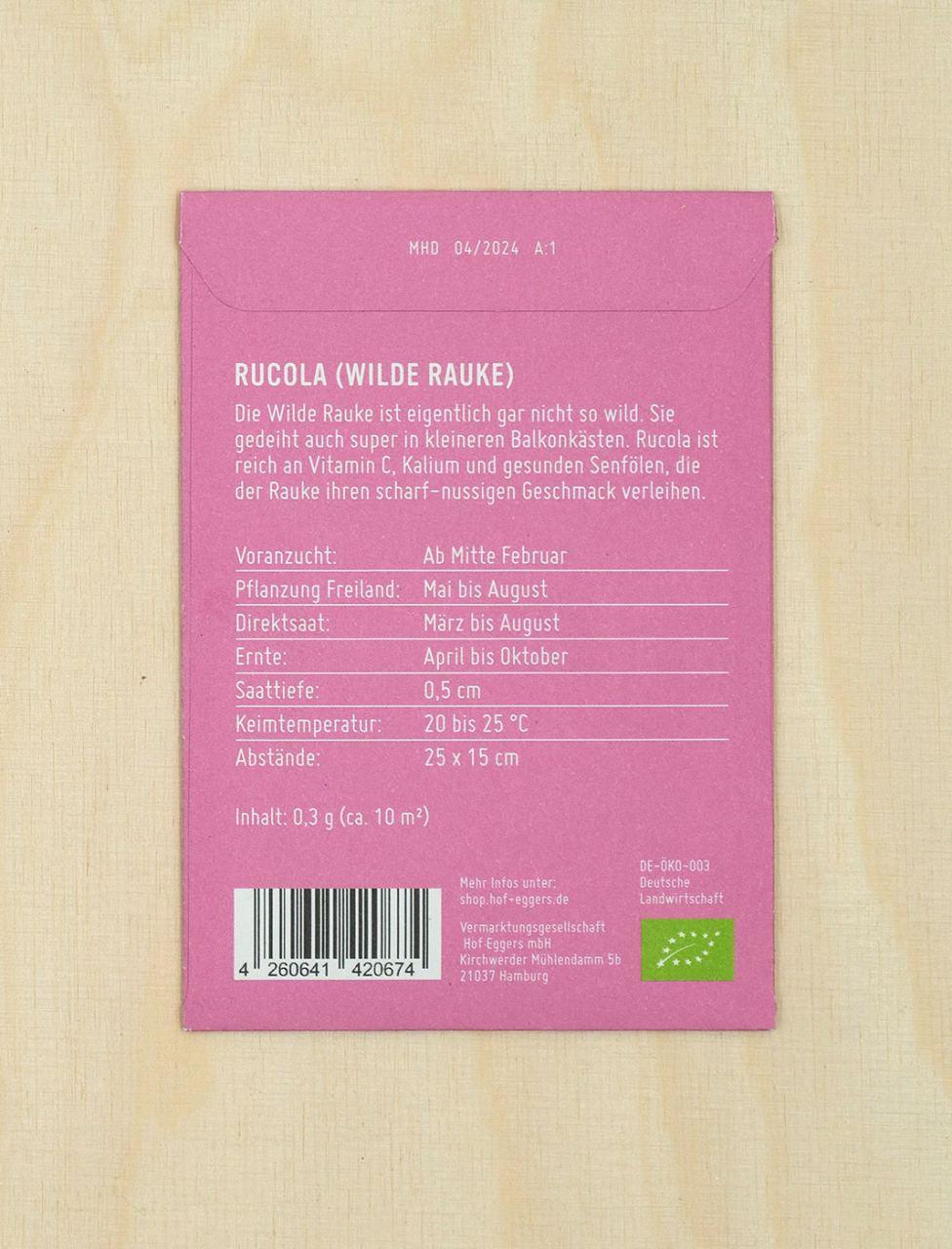 Rucola Wilde Rauke, Bio-Saatgut