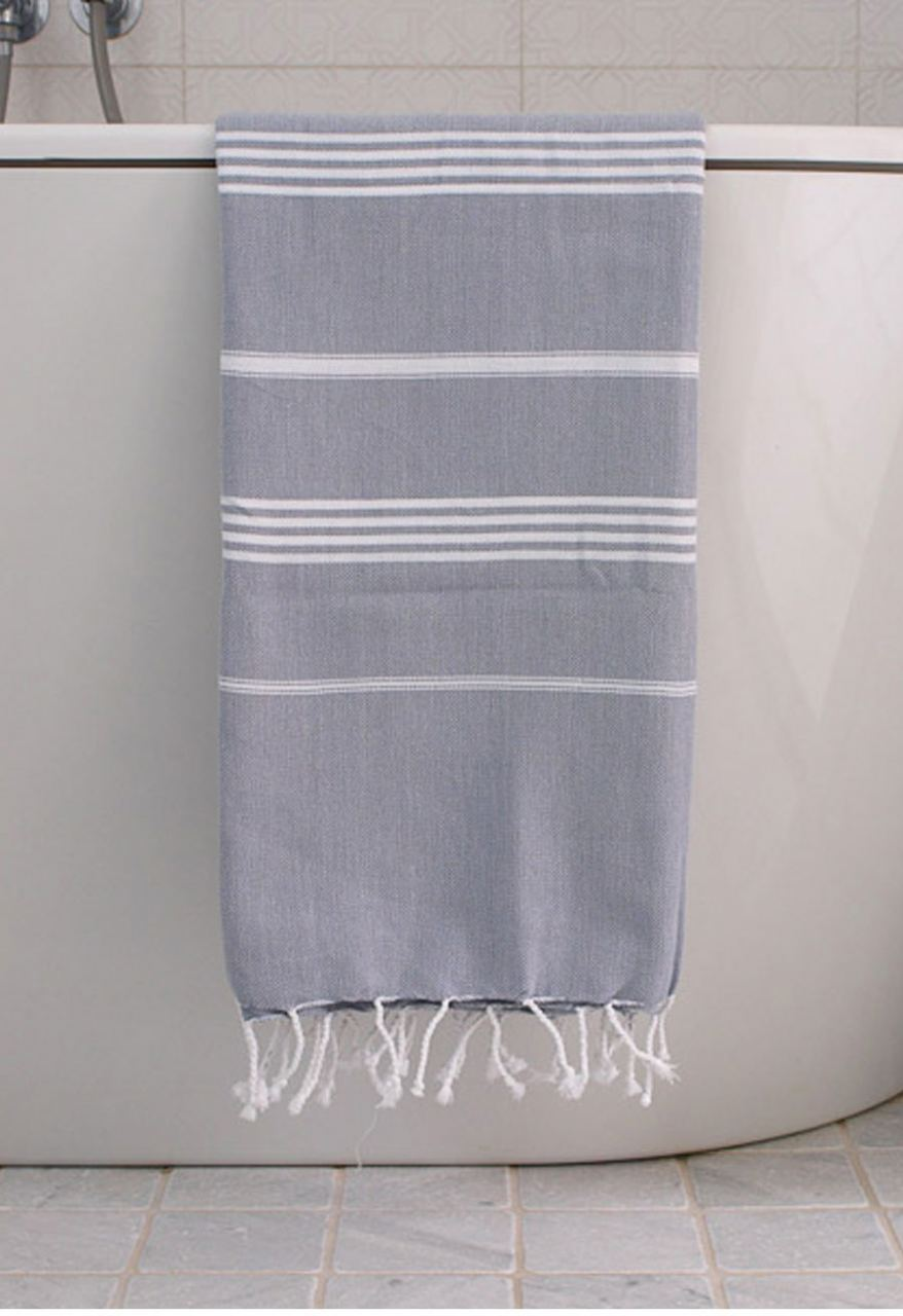 Hammamtuch Grey White