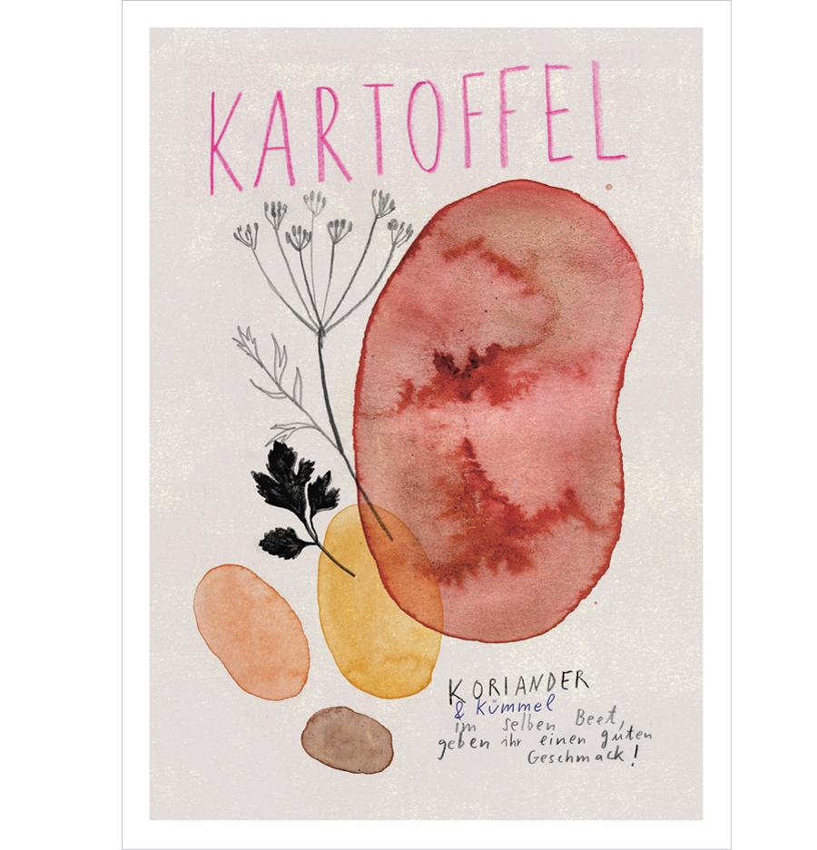 Kartoffel Postkarte A6