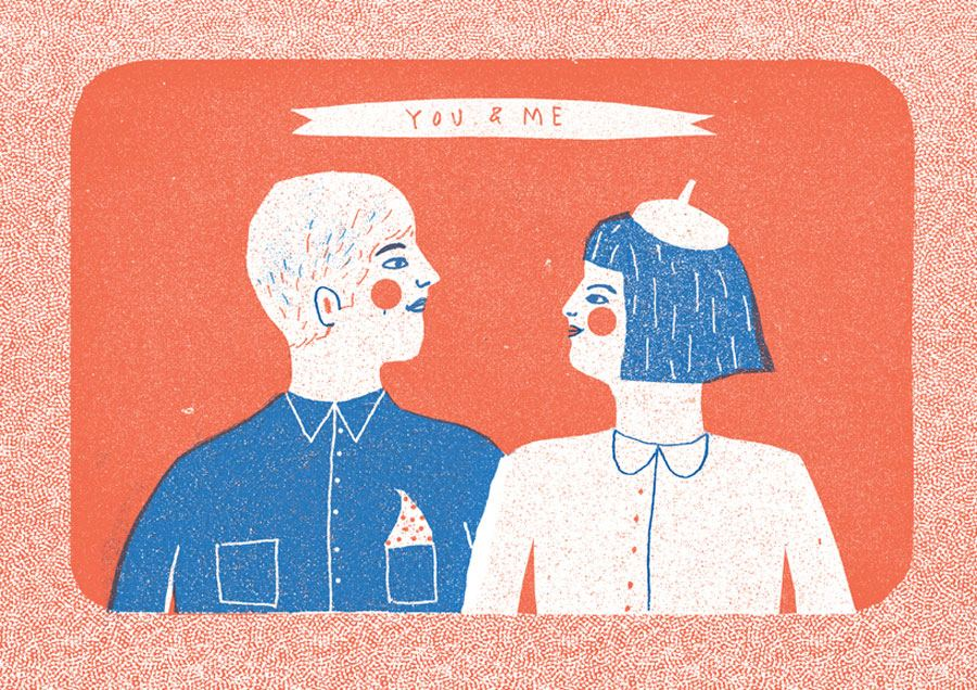 You and Me Risograph Print (Din A4)