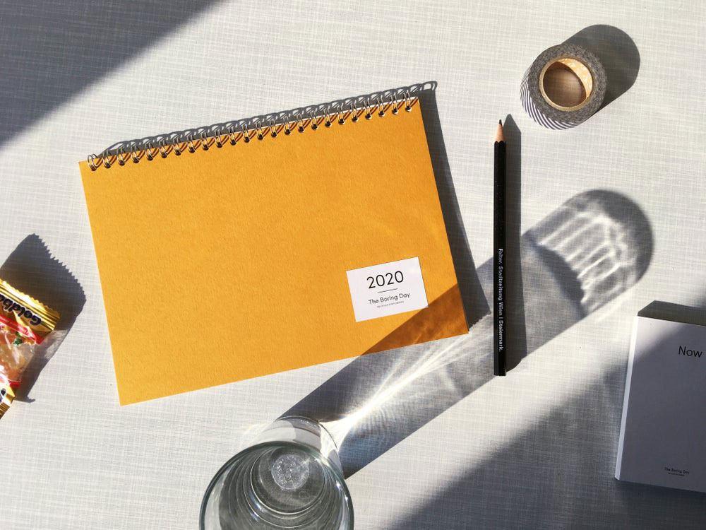 The Boring Day Tischkalender 2020 Gelb
