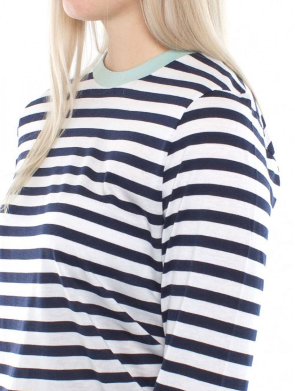 Tilse Longsleeve Aquagrey/Stripe