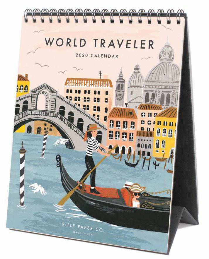 2020 World Traveler Tischkalender