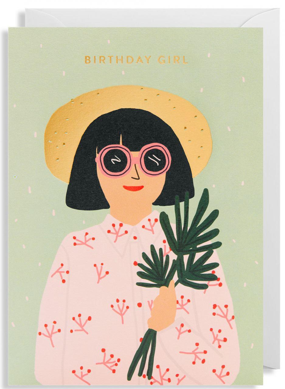 Birthday Girl Klappkarte