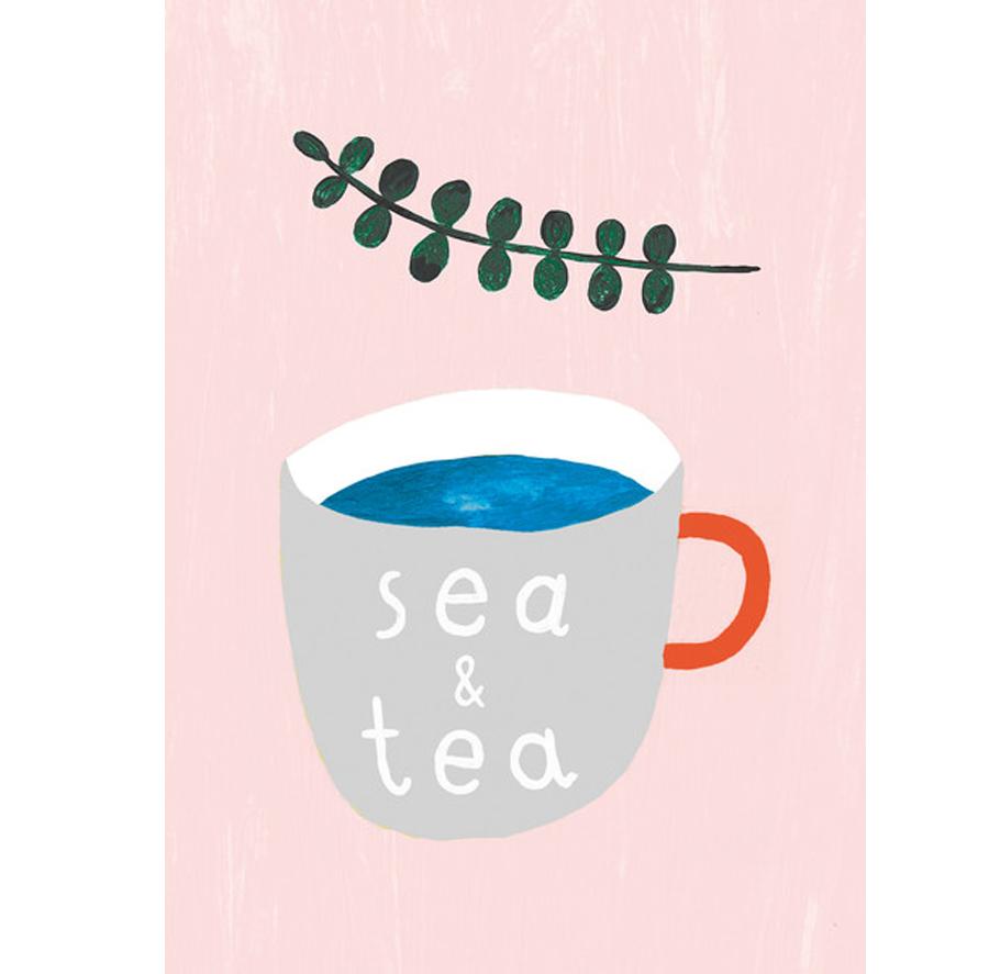 Sea & Tea Postkarte