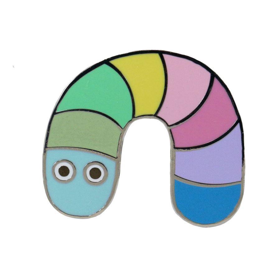 Metal Pin Pastell Worm