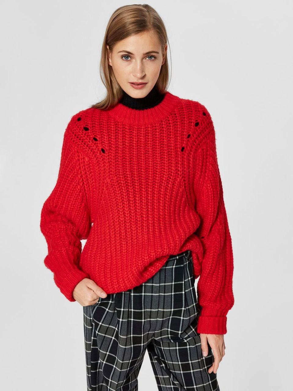 SLFGINNA Strickpullover True Red