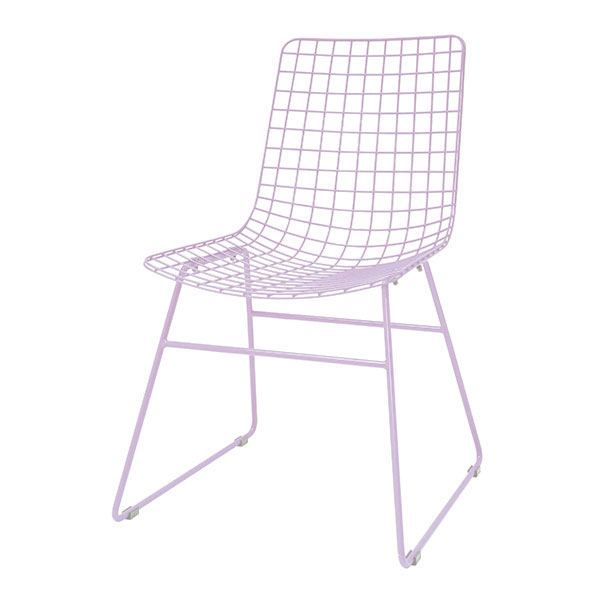 Stuhl Metalldraht Lilac