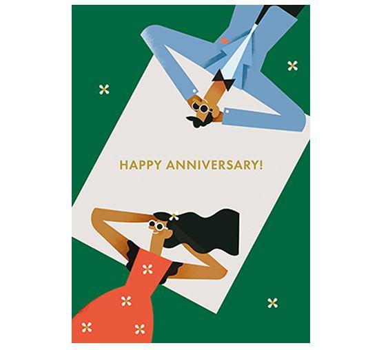 Happy Anniversary Klappkarte