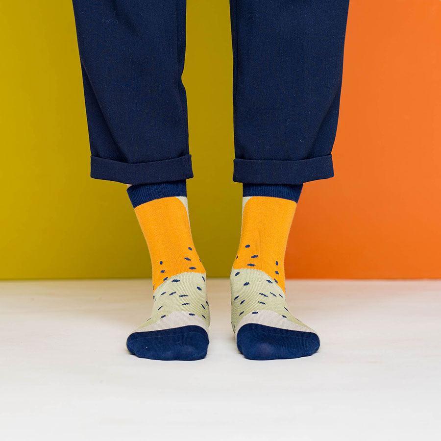 Nice Socks Shapes Green