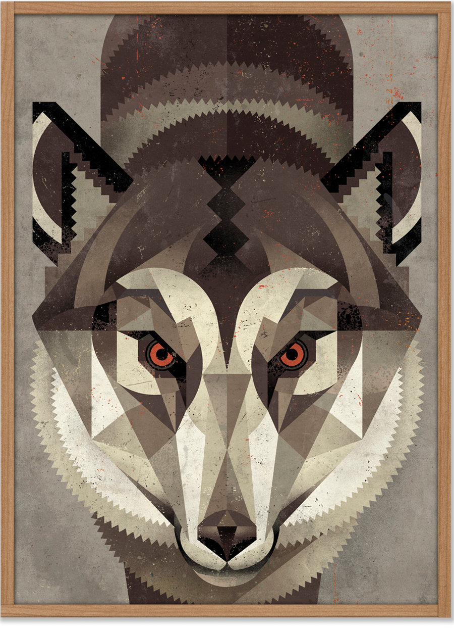 Wolf Poster (50 x 70 cm)