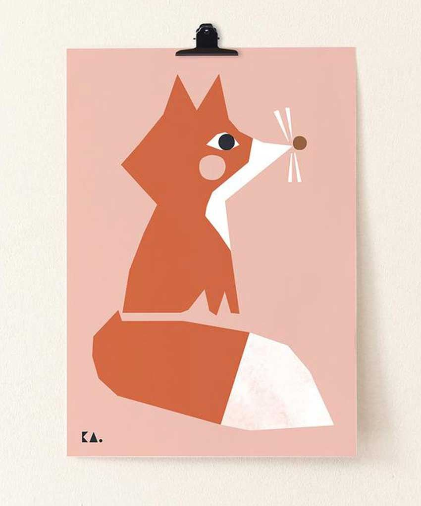 Fox Poster (50 x 70cm)
