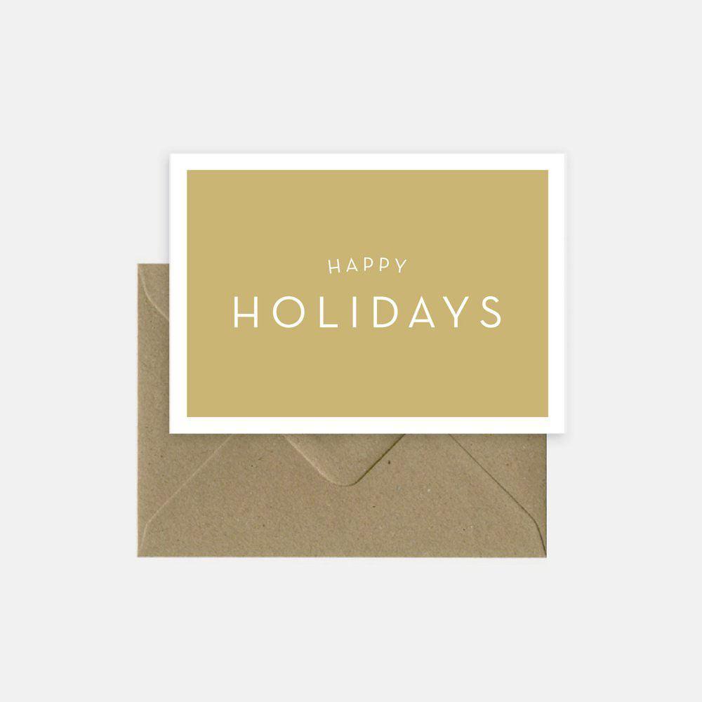 Happy Holiday Klappkarte