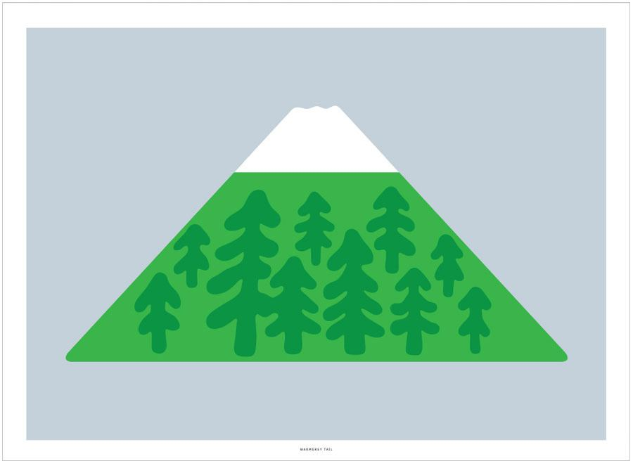 Snow Peak Light Blue Poster (30x40cm)