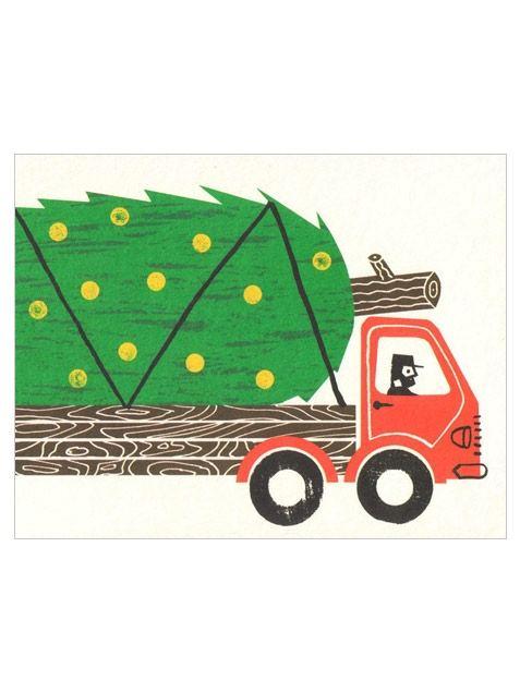 Massive Tree Truck Klappkarte