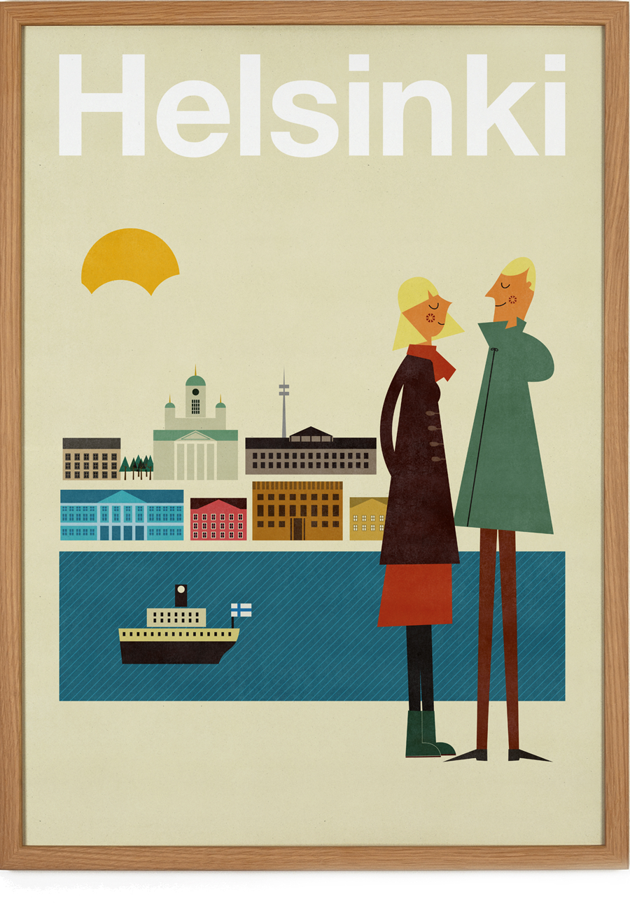 helsinki poster 50 x 70 cm human empire artist series human empire shop. Black Bedroom Furniture Sets. Home Design Ideas